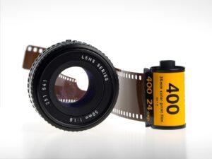 Aufdruck ISO-Wert auf Film