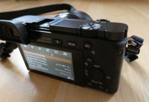 Sony Alpha 6000 Systemkamera Blick ins Menü