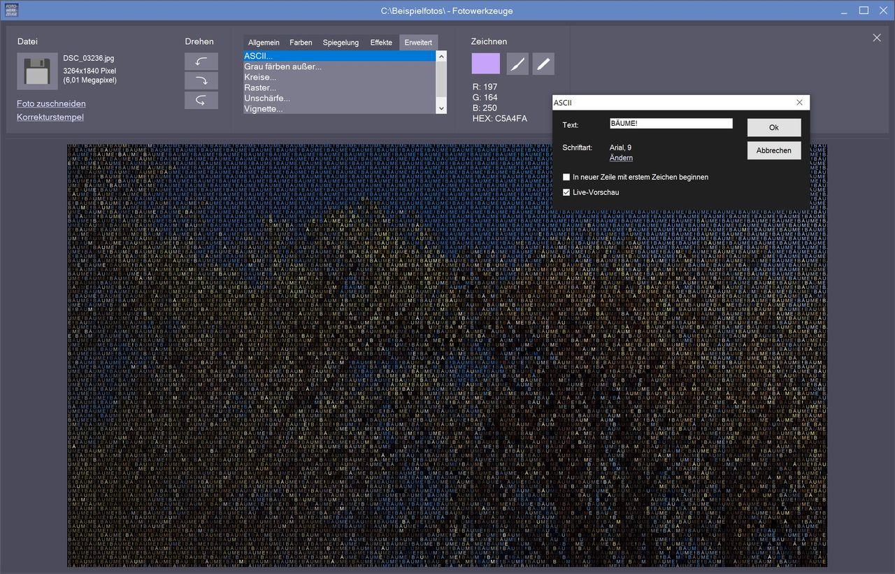 Bilder in ASCII-Art umwandeln