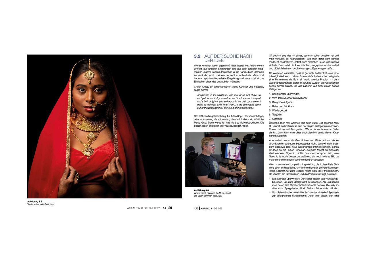 Blick ins Buch 1 Porträtfotografie mitp Edition ProfiFoto