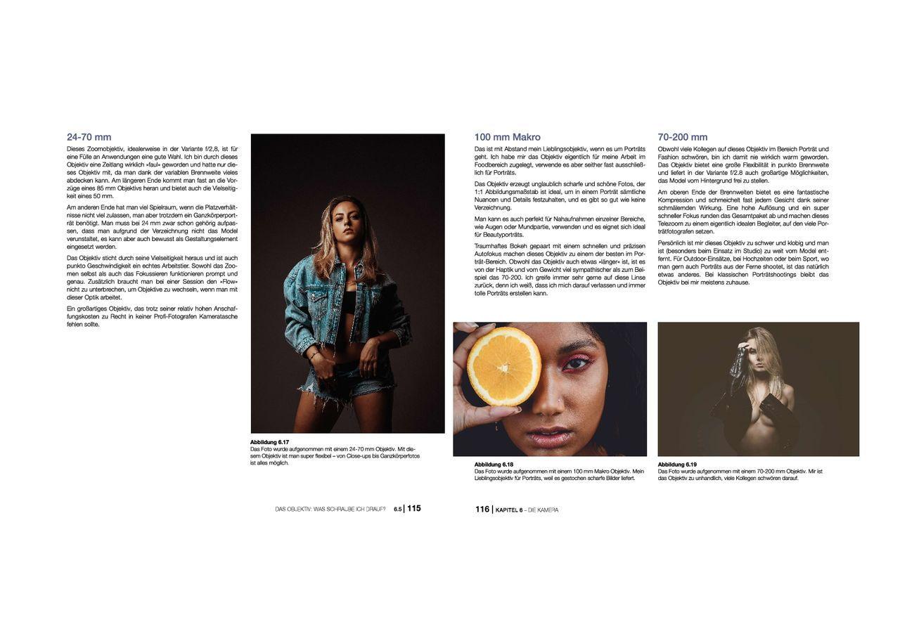 Blick ins Buch 3 Porträtfotografie mitp Edition ProfiFoto